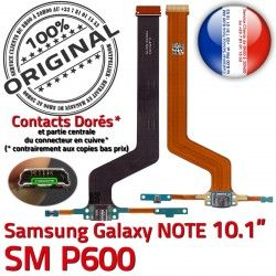 Contacts de OFFICIELLE SM-P600 Qualité Chargeur Samsung Connecteur Réparation SM Nappe MicroUSB ORIGINAL Charge Doré C NOTE P600 Galaxy