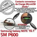 Samsung Galaxy SM-P600 NOTE C P600 MicroUSB SM OFFICIELLE Connecteur Doré Réparation Qualité Charge Contact Chargeur ORIGINAL de Pen Nappe
