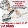 Samsung Galaxy SM-P600 NOTE C Charge ORIGINAL P600 OFFICIELLE de Réparation Doré Connecteur Pen Qualité Nappe MicroUSB SM Chargeur Contact