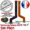 Samsung Galaxy NOTE SM-P601 C Nappe P601 de Chargeur Qualité Réparation SM OFFICIELLE Doré MicroUSB Connecteur ORIGINAL Charge Contacts