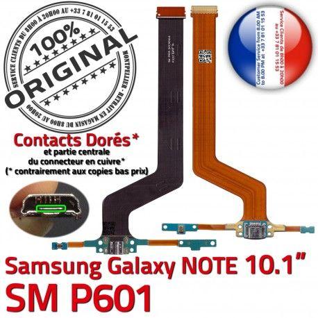 SM-P601 Micro USB NOTE Charge Samsung Doré Galaxy de SM Pen Nappe ORIGINAL Réparation Connecteur Qualité MicroUSB P601 OFFICIELLE Contact Chargeur