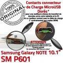SM-P601 Micro USB NOTE Charge Contact OFFICIELLE Chargeur Nappe Pen Réparation Samsung ORIGINAL SM de Doré P601 Galaxy Connecteur Qualité MicroUSB