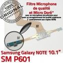 Samsung Galaxy SM-P601 NOTE C OFFICIELLE Charge Qualité ORIGINAL P601 Connecteur Doré SM MicroUSB Réparation Contact Pen Chargeur de Nappe