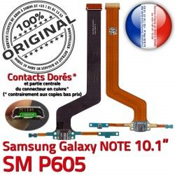 Contacts P605 ORIGINAL NOTE Doré Qualité C SM-P605 de SM Galaxy Chargeur Charge Samsung Nappe MicroUSB OFFICIELLE Réparation Connecteur