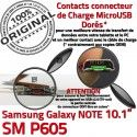 Samsung Galaxy SM-P605 NOTE C Réparation Connecteur Chargeur Contact de SM Nappe Qualité ORIGINAL Doré P605 OFFICIELLE Pen Charge MicroUSB