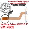 Samsung Galaxy SM-P605 NOTE C Contact Nappe Qualité OFFICIELLE Charge Connecteur Réparation Pen de SM Doré Chargeur MicroUSB P605 ORIGINAL