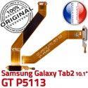 GT-P5113 Micro USB TAB2 Charge P5113 Samsung Nappe Galaxy 2 Connecteur GT Qualité ORIGINAL Réparation MicroUSB Dorés OFFICIELLE TAB Contacts de Chargeur
