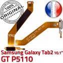 Samsung Galaxy GT-P5110 TAB2 Ch ORIGINAL P5110 Dorés Réparation OFFICIELLE TAB 2 Contacts GT Chargeur de MicroUSB Charge Qualité Connecteur Nappe