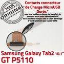 Samsung Galaxy GT-P5110 TAB2 Ch 2 Chargeur P5110 de Connecteur Nappe GT MicroUSB TAB Contacts OFFICIELLE Charge Réparation ORIGINAL Dorés Qualité