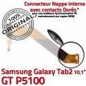 Samsung Galaxy GT-P5100 TAB2 Ch TAB Charge OFFICIELLE Nappe GT MicroUSB de Contacts Dorés P5100 Qualité 2 Réparation ORIGINAL Connecteur Chargeur