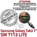 Samsung Galaxy Tab3 SM-T113 USB Dock Chargeur SLOT Prise Qualité souder Fiche ORIGINAL de MicroUSB Dorés Pins charge TAB3 à Connector