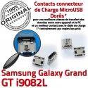 Samsung Galaxy GT-i9082L USB Dorés à Fiche ORIGINAL Dock de SLOT Chargeur charge Grand souder MicroUSB Prise Pins Qualité Connector