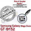 Samsung Galaxy GT-i9152 USB souder Duos Connector Chargeur Dock à Mega de MicroUSB Prise Pins charge Dorés Qualité ORIGINAL Fiche