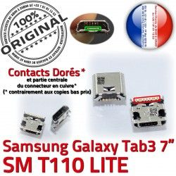 Connecteur TAB Connector Chargeur inch Tab Samsung SM à Galaxy de charge 3 Dorés Micro Dock souder 7 Pins T110 USB ORIGINAL Prise
