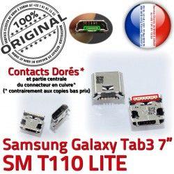 Tab3 Fiche de Connector souder Chargeur Dock ORIGINAL Dorés à Galaxy Qualité USB SLOT TAB3 charge Prise Samsung Pins SM-T110 MicroUSB