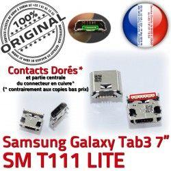 Galaxy Samsung charge Qualité Chargeur de SM-T111 Pins Prise à Dock Fiche Dorés souder TAB3 USB Tab3 Connector ORIGINAL SLOT MicroUSB