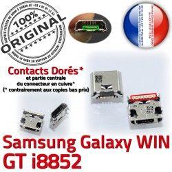 Samsung Fiche SLOT ORIGINAL Dock Win Prise Chargeur de GT-i8852 Qualité souder Pins à Galaxy USB MicroUSB Dorés charge Connector