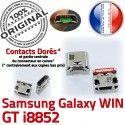 Samsung Galaxy Win GT-i8852 USB Prise MicroUSB Connector Dorés Chargeur souder Qualité à de ORIGINAL Pins charge Dock SLOT Fiche