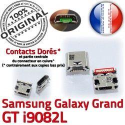à Chargeur USB Galaxy Dorés GT-i9082L Dock MicroUSB Grand Prise Connector SLOT Samsung charge Fiche ORIGINAL Pins souder de Qualité