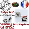 Samsung Galaxy GT-i9152 USB Connector Duos souder MicroUSB à Qualité Prise ORIGINAL Pins Chargeur Mega Fiche charge Dock Dorés de