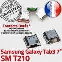 Samsung Galaxy Tab 3 T210 USB de inch TAB Connector Dock Dorés Chargeur Pins Connecteur SM à Micro Prise 7 souder ORIGINAL charge