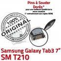 Samsung Galaxy Tab 3 T210 USB Pins 7 TAB Chargeur Prise Dorés Connecteur à charge ORIGINAL de inch Micro souder Dock SM Connector