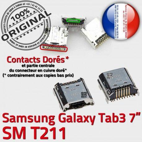 Samsung Galaxy Tab3 SM-T211 USB Chargeur à Pins Prise Dock Qualité SLOT MicroUSB TAB3 Fiche de ORIGINAL souder Connector charge Dorés