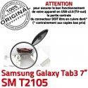 Samsung Galaxy Tab3 SM-T2105 USB charge Dock Qualité souder Chargeur à Prise Connector TAB3 de Pins Fiche ORIGINAL MicroUSB Dorés SLOT