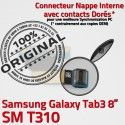 Samsung Galaxy TAB 3 SM-T310 Ch Chargeur Contacts TAB3 Dorés Qualité Charge MicroUSB OFFICIELLE ORIGINAL Nappe Réparation Connecteur de