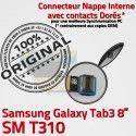 SM-T310 Micro USB TAB3 Charge Qualité TAB MicroUSB Galaxy Dorés Connecteur Contacts Nappe Chargeur 3 Réparation Samsung OFFICIELLE T310 ORIGINAL SM de