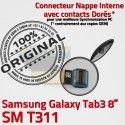 Samsung Galaxy SM-T311 TAB3 Ch Contacts T311 Réparation MicroUSB TAB Chargeur Qualité Nappe Charge OFFICIELLE de Dorés SM ORIGINAL Connecteur 3