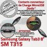 SM-T315 Micro USB TAB3 Charge SM Dorés OFFICIELLE Contacts Réparation 3 Samsung Chargeur Galaxy ORIGINAL Connecteur TAB T315 Nappe de Qualité MicroUSB