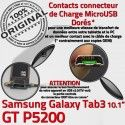 Samsung Galaxy GT-P5200 TAB3 Ch Chargeur de Nappe MicroUSB GT Charge 3 Réparation Dorés Qualité P5200 ORIGINAL Connecteur Contacts TAB OFFICIELLE