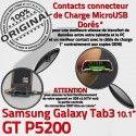 GT-P5200 Micro USB TAB3 Charge Contacts 3 OFFICIELLE Dorés Réparation Connecteur TAB Qualité Nappe GT Chargeur MicroUSB ORIGINAL de Galaxy Samsung P5200