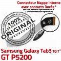 GT-P5200 Micro USB TAB3 Charge Chargeur Contacts TAB Galaxy Samsung Dorés 3 Nappe Qualité OFFICIELLE Connecteur P5200 de GT MicroUSB ORIGINAL Réparation