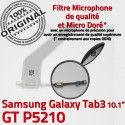 Samsung Galaxy TAB 3 GT-P5210 Ch Contacts ORIGINAL Charge de Connecteur Nappe Qualité TAB3 MicroUSB Chargeur Dorés Réparation OFFICIELLE
