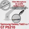Samsung Galaxy GT-P5210 TAB3 Ch MicroUSB OFFICIELLE Contacts GT de P5210 Réparation Charge Chargeur 3 Qualité Connecteur Nappe ORIGINAL TAB Dorés