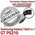 GT-P5210 Micro USB TAB3 Charge P5210 Qualité Contacts ORIGINAL Galaxy GT Dorés de Samsung Connecteur Réparation OFFICIELLE Chargeur Nappe MicroUSB 3 TAB