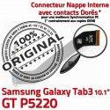 Samsung Galaxy GT-P5220 TAB3 Ch OFFICIELLE Dorés Connecteur GT TAB Contacts 3 Nappe Chargeur Charge Réparation P5220 Qualité de MicroUSB ORIGINAL