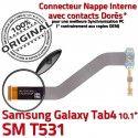 Samsung Galaxy SM-T531 TAB4 Ch Nappe Contacts MicroUSB 4 Réparation SM de Qualité Charge OFFICIELLE Chargeur T531 TAB Dorés Connecteur ORIGINAL