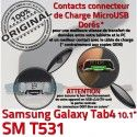 SM-T531 Micro USB TAB4 Charge ORIGINAL de Dorés MicroUSB Qualité Réparation Connecteur TAB T531 Nappe Contacts SM OFFICIELLE 4 Galaxy Chargeur Samsung