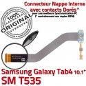 Samsung Galaxy SM-T535 TAB4 Ch Dorés de Qualité 4 TAB Nappe Charge Connecteur MicroUSB ORIGINAL OFFICIELLE Contacts Réparation T535 SM Chargeur
