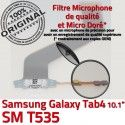 SM-T535 Micro USB TAB4 Charge Qualité OFFICIELLE Samsung Nappe T535 ORIGINAL Réparation Chargeur MicroUSB SM de Connecteur Galaxy Dorés TAB Contacts 4