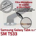 Samsung Galaxy SM-T533 TAB4 Ch Dorés Réparation 4 ORIGINAL OFFICIELLE T533 Chargeur Charge TAB MicroUSB SM Connecteur Qualité Contacts de Nappe