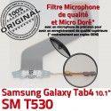 Samsung Galaxy TAB 4 SM-T530 Ch Nappe TAB4 Qualité Connecteur OFFICIELLE Dorés MicroUSB de Réparation Chargeur Contacts ORIGINAL Charge