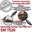 Samsung Galaxy TAB PRO SM-T520 C Chargeur Contacts OFFICIELLE ORIGINAL Connecteur Qualité Charge Réparation Nappe T520 MicroUSB de SM Doré