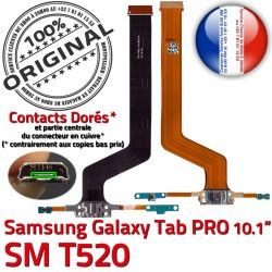 SM-T520 OFFICIELLE Galaxy Doré T520 ORIGINAL Qualité TAB MicroUSB SM PRO Samsung Connecteur Charge Contact C Nappe de Réparation Chargeur