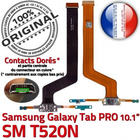 Samsung Galaxy TAB PRO SM-T520NC Réparation Qualité Connecteur SM T520N OFFICIELLE Contact MicroUSB Doré ORIGINAL de Charge Chargeur Nappe