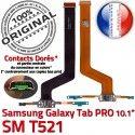 SM-T521 Micro USB TAB PRO C Nappe Galaxy Chargeur de Samsung T521 Réparation OFFICIELLE ORIGINAL Qualité Connecteur Charge Contact Doré MicroUSB SM