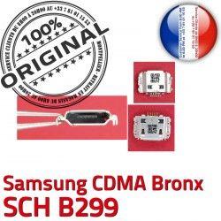 C Prise USB souder Dorés ORIGINAL Connecteur Chargeur Dock Pins Flex Connector Portable Bronx SCH Micro B299 charge CDMA Samsung à de